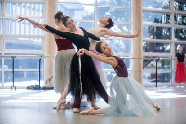 Rehearsal on Harlequin at the the Royal New Zealand Ballet