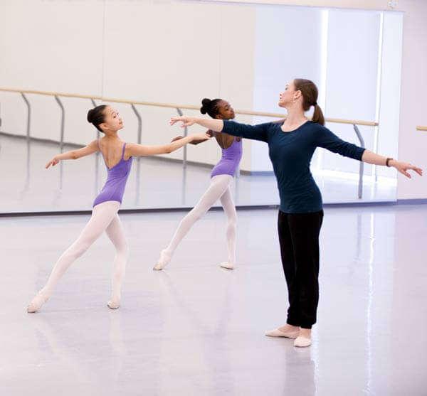 Ballet class on Harlequin floor at NBS Canada