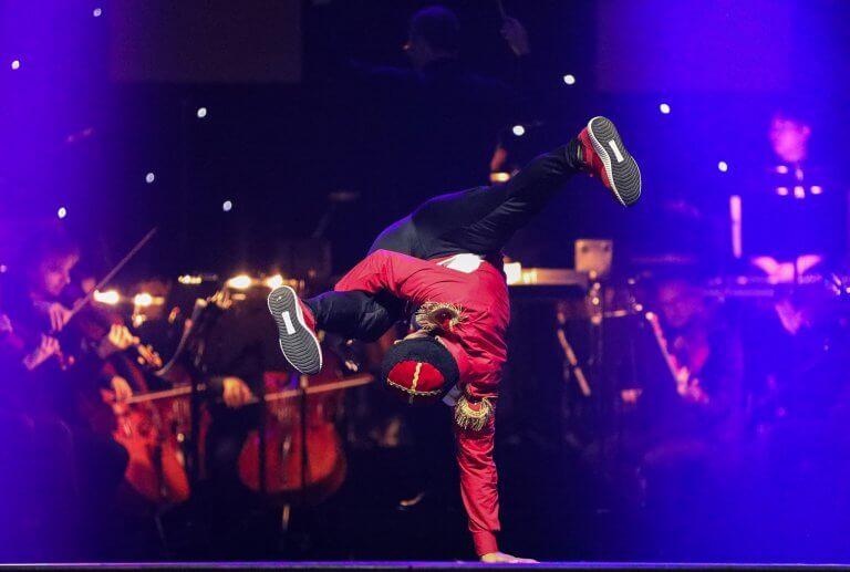 German hip hop dance group Da Rookies performing on Harlequin FreeStyle
