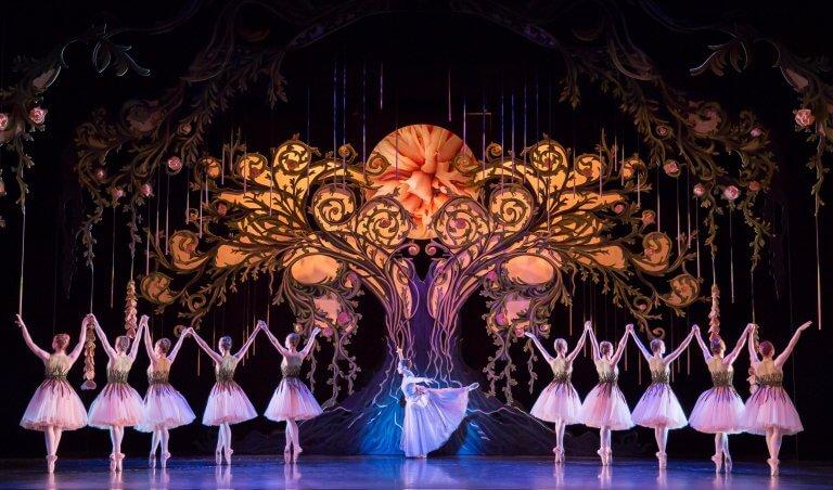 Ballet on Harlequin stage floor