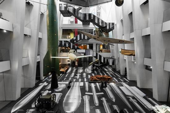 Ai Weiwei's artwork at the atrium of the IWM London, printed on Harlequin Clarity vinyl floor