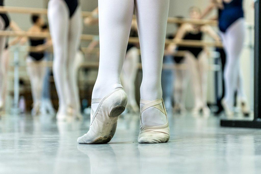Ballet dancers in split sole ballet flats