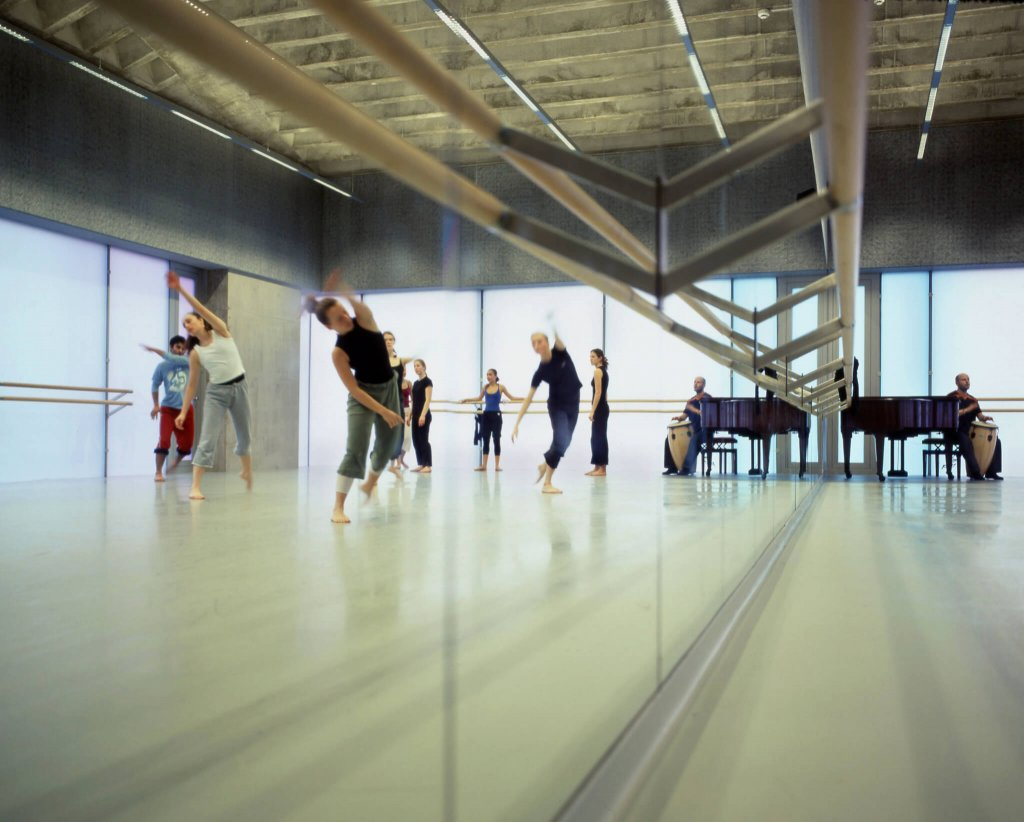 Trinity Laban dancers during rehearsal at a studio