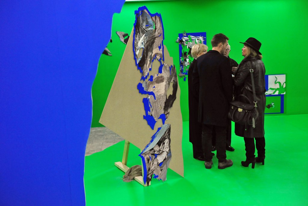 "Chroma key installation in Felicity Hammond's ""Remains in Development"""