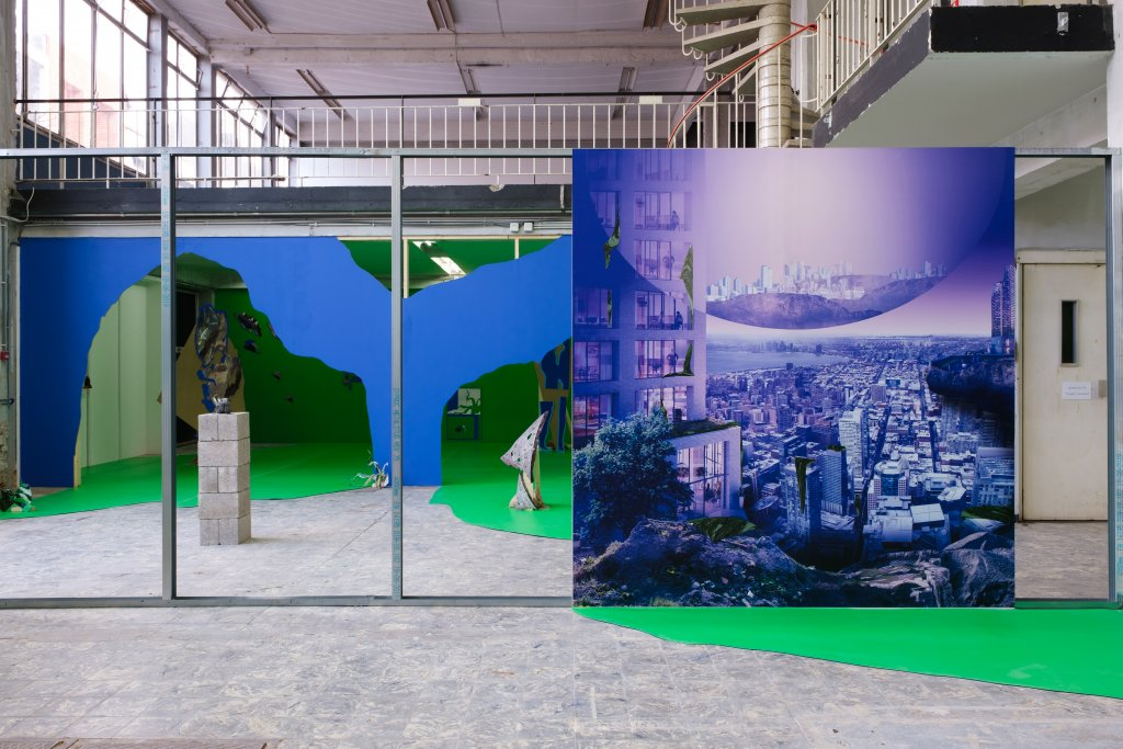 Remains in Development, exhibition on Harlequin Duo vinyl in chroma key green and blue