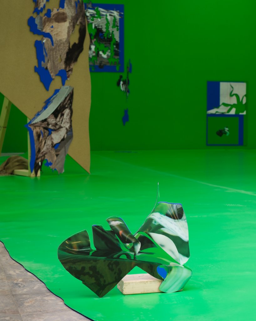 Detail of the chroma key section in Felicity Hammond's Remains in Development