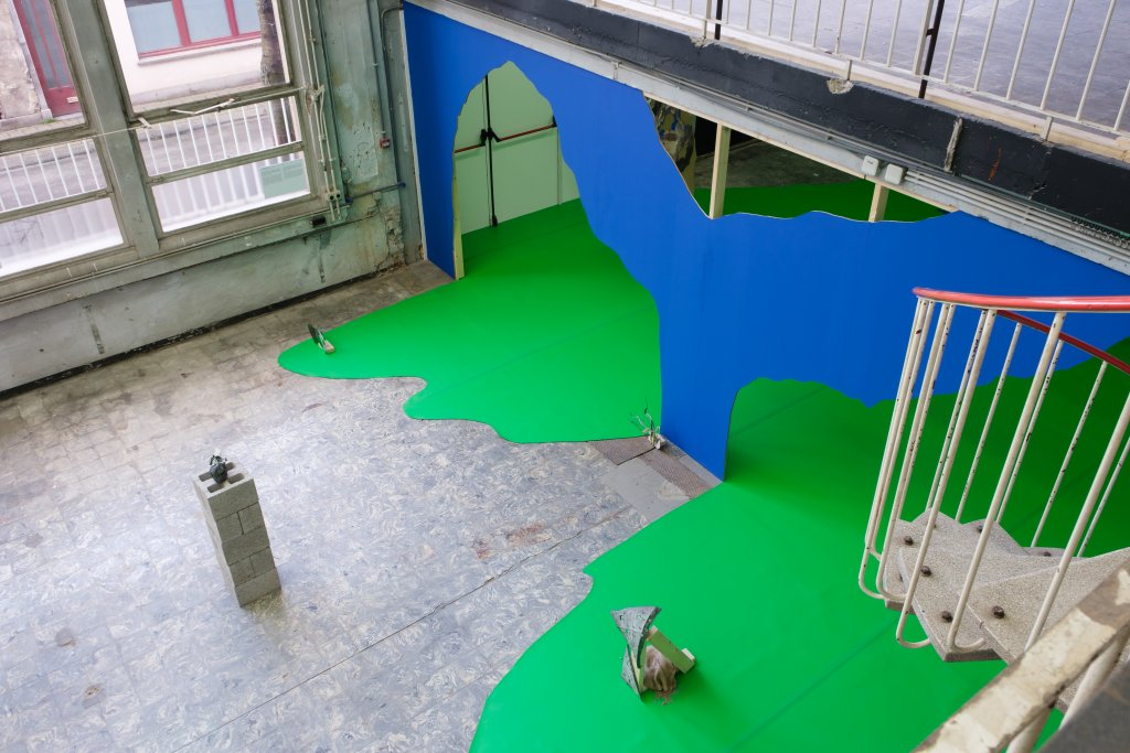 Upstairs view of Felicity Hammond's exhibition: Remains in Development