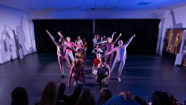 Students performing at Leeds City College
