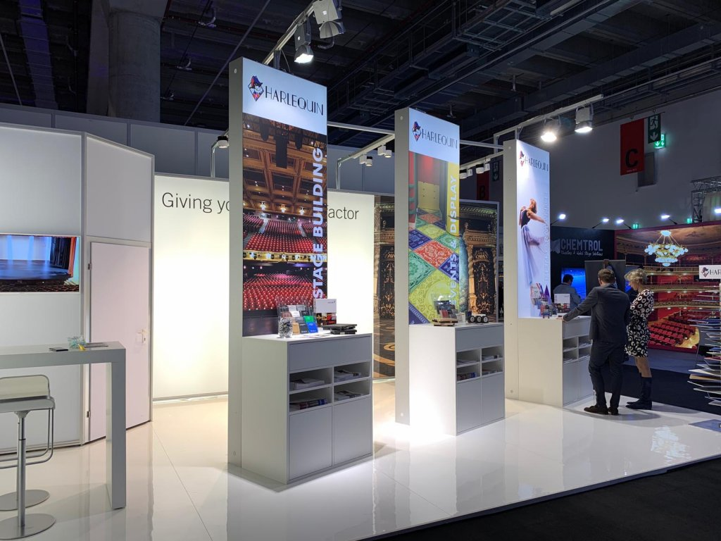 Image of Harlequin Stand at Prolight + Sound 2019