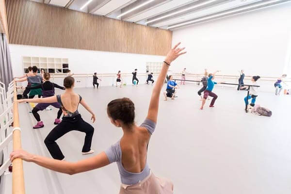 A rehearsal at the new London City Island, equipped with Harlequin performance floor