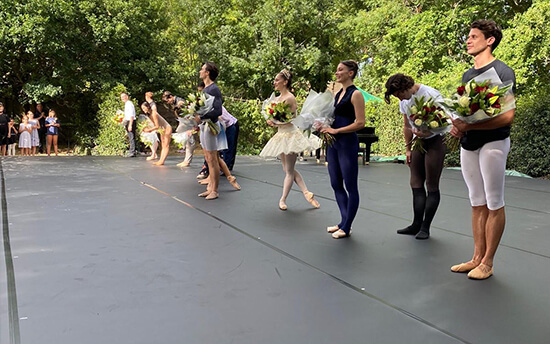 Curtain call at Dance at Ardenrun on Harlequin Cascade with BioCote and Harlequin Liberty HD