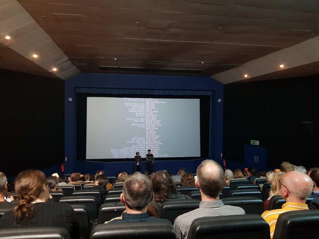 Alla Kovgan faces audience of Cunningham 3D