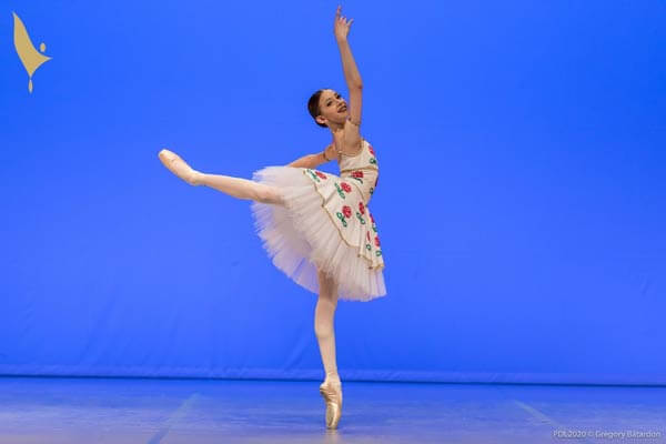 Ava Arbuckle with her winning performance at Prix de Lausanne