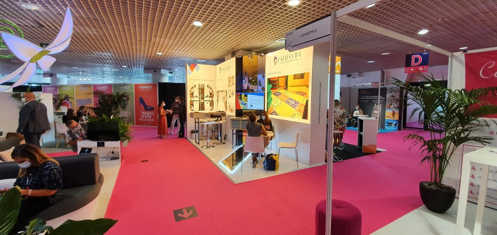 Harlequin Floors exhibits at Heavent every year